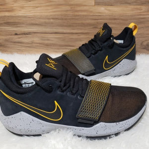 New Nike PG 1 Black Yellow Grey Sneakers